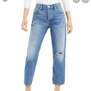Lucky brand Relaxed Ripped Taper crop jeans